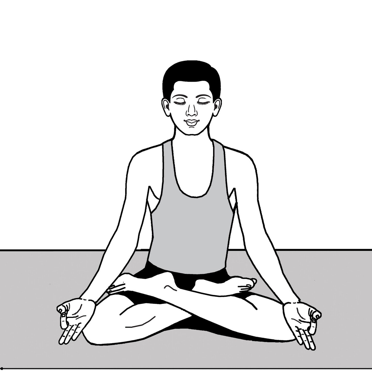 The Classic Yoga Meditation Pose Where Spine Its Straight Eyes Are Down To Gaze Point Know As Nasagrai Focus Is Drawn Inward Towards